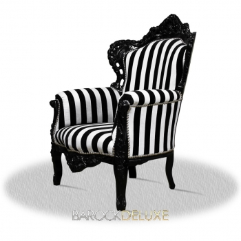 barock deluxe m bel barock sessel schwarz weiss schwarz. Black Bedroom Furniture Sets. Home Design Ideas