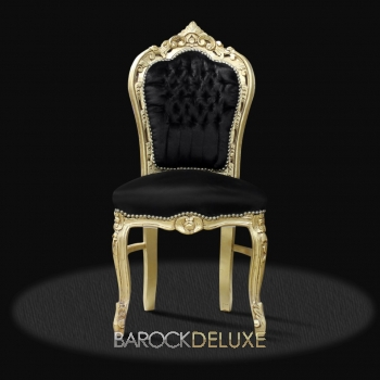 barock deluxe m bel barock stuhl milano schwarz gold. Black Bedroom Furniture Sets. Home Design Ideas