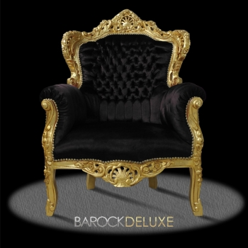barock deluxe m bel barock sessel schwarz gold. Black Bedroom Furniture Sets. Home Design Ideas