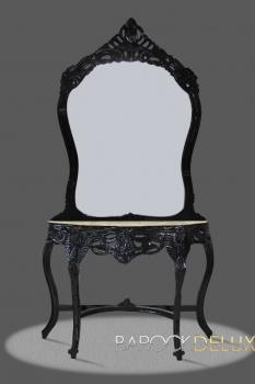 Barock deluxe m bel barock spiegel konsole schwarz - Barock spiegel schwarz ...