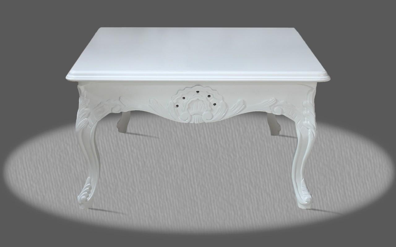 barock deluxe m bel barock tisch lounge weiss. Black Bedroom Furniture Sets. Home Design Ideas
